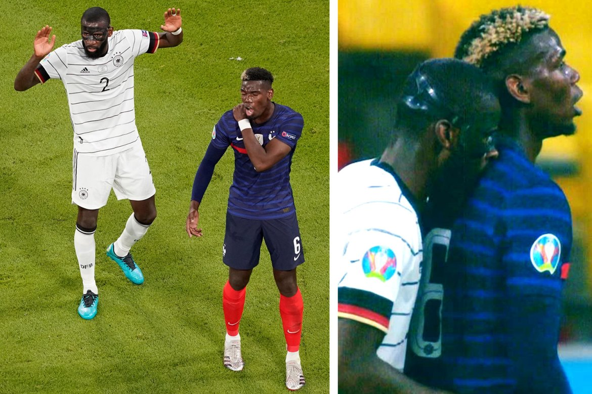 Germany's Antonio Rüdiger escapes Uefa punishment for allegedly nibbling  France star Paul Pogba   Sport   The Times