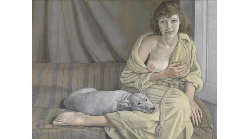 Lucian Freud, 1922-2011: Girl with a White Dog, 1950-1. Oil paint on canvas