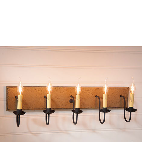 primitive and country vanity lighting