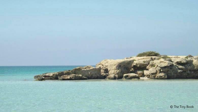Bluish sea of Elafonisi, Crete.