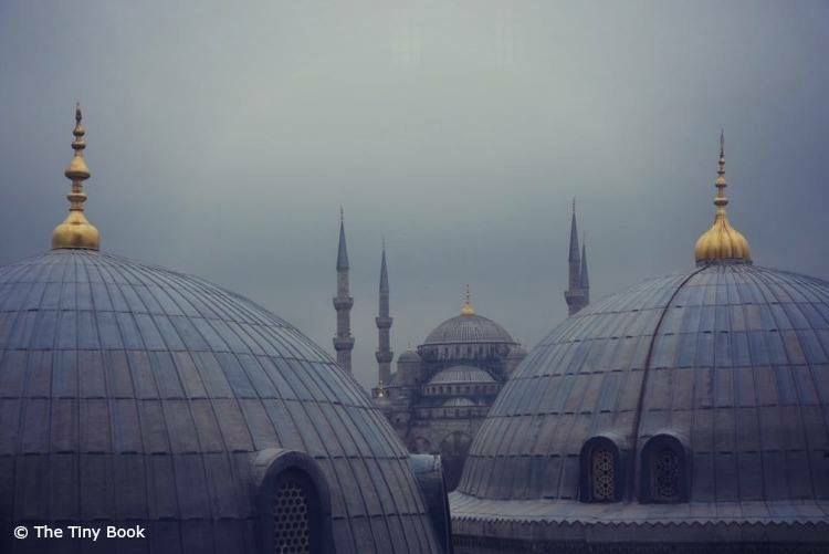 The Blue Mosque seen from the roofs of Hagia Sophia.