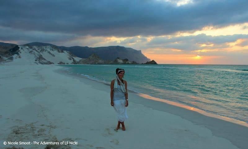 Nicole Smoot, Blogger, amazing photographer and travel writer, here Detwah Lagoon.