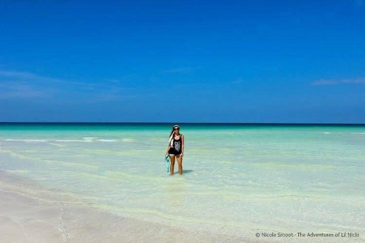 Nicki at Shu'uab Beach, Arabian Sea.