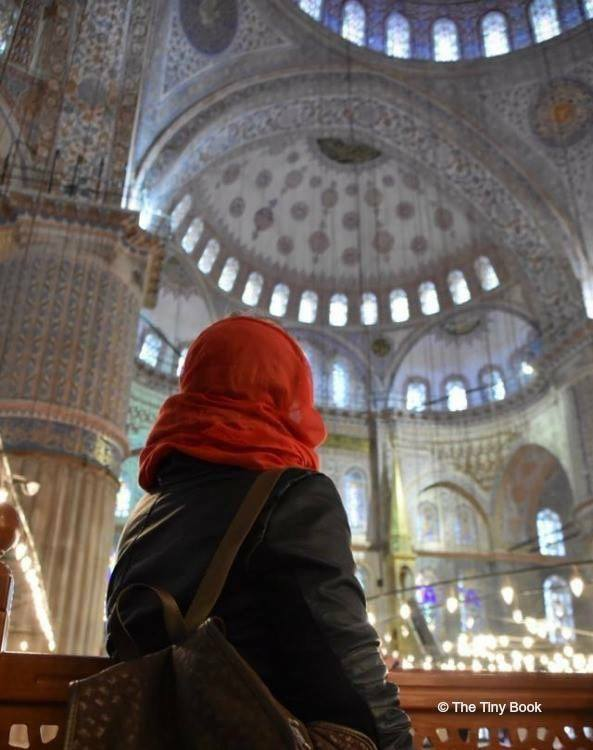 A moment of peace in the Blue Mosque