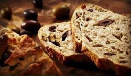 Eliopsomo, Greek bread with olives. Greek Tastes: Different types of bread from Greece.