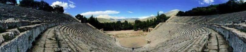 Theatre of Epidarus. Cruising around Greece.