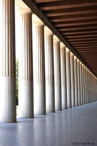 The Stoa of Attalos (colonnade from the inside).