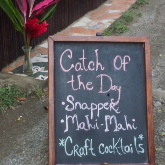 Lazlo's Catch of the Day, Puerto Viejo