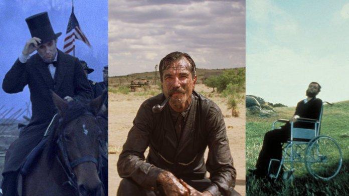 Ο Ντάνιελ Ντεϊ Λιούις είναι ο μοναδικός ηθοποιός που έχει κερδίσει τρεις φορές το βραβείο καλύτερου ηθοποιού. Τον Μάρτιο του 1990 για τον ρόλο του στην ταινία My Left Foot,(δεξιά), τον Φεβρουάριο του 2008 για τον ρόλο του στην ταινία There Will Be Blood (κέντρο) και για την ταινία Lincoln το 2012 (αριστερά)