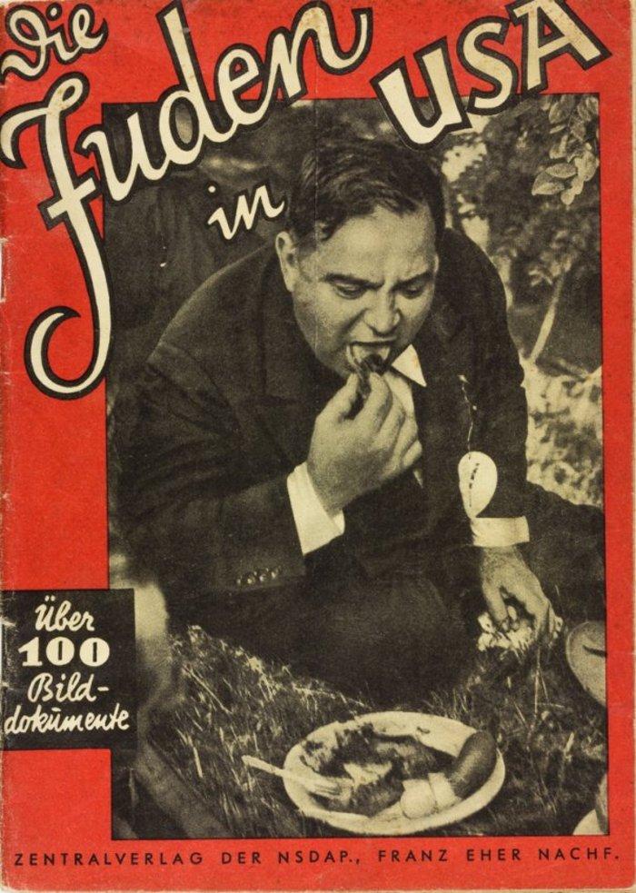 Ναζιστικό έντυπο με τίτλο «Οι Εβραίοι στις ΗΠΑ»