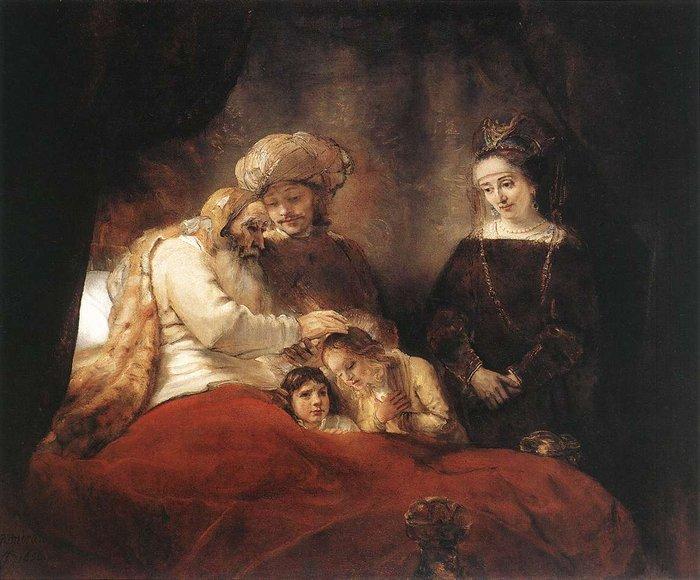 Jacob Blessing the Children of Joseph 1656