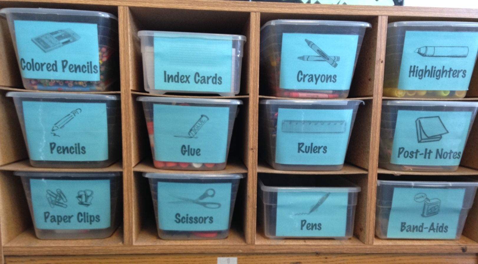 Spotted Middle School Classroom Organization