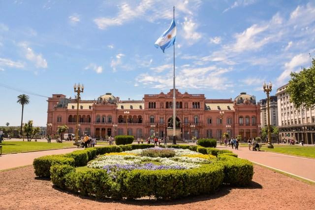 Casa Rosada in Plaza de Mayo