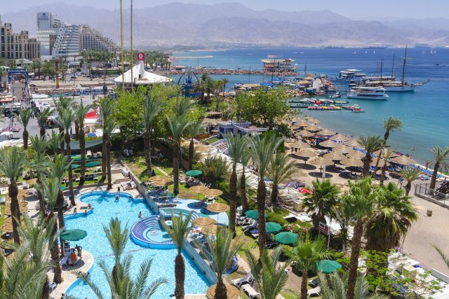 The Central beach and marina in Eilat, Israel, israel destinations, place in israel,