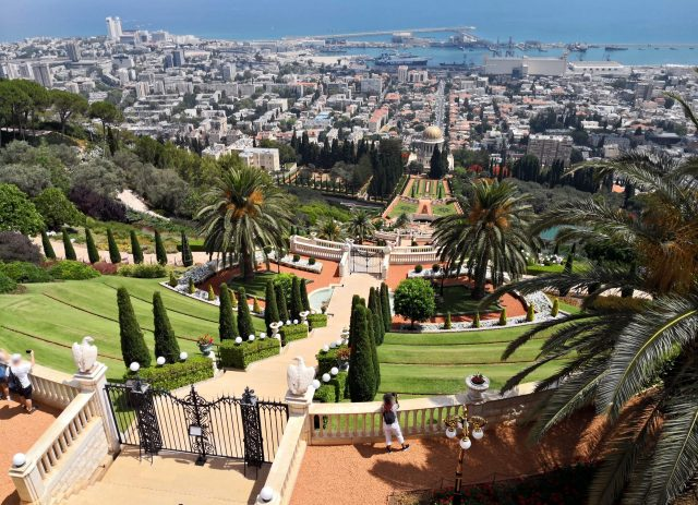 The Bahai Gardens and the city of Haifa, Israel - is israel safe to visit? yes!h israel visiting places, israel tourist spots