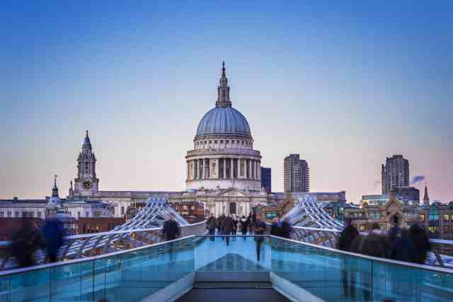 St. Paul cathedral and Millennium bridge - things do london, things do in london