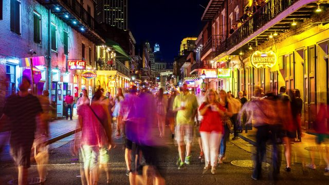 the best places to visit in new orleans and top things to do in new orleans are around Bourbon Street