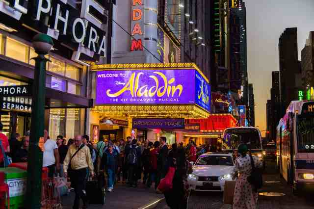 Aladdin Theater on 42nd street, Times Square. best things to do in downtown new york and things to do in new york with kids. fun things to do in new york