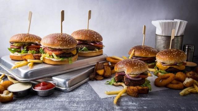 Vegan Burgers from Rainbow's Facebook page - best vegan restaurants tel aviv, kosher vegan restaurants tel aviv