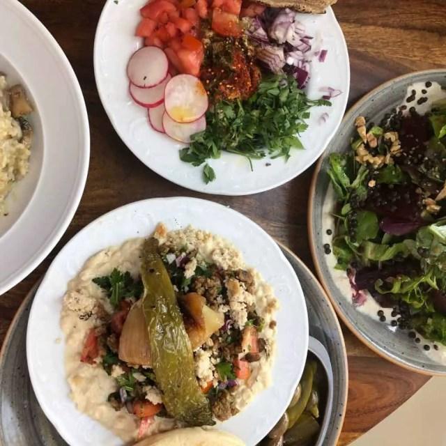 Vegan food in Tel Aviv. Picture from Michelangelo Cafe