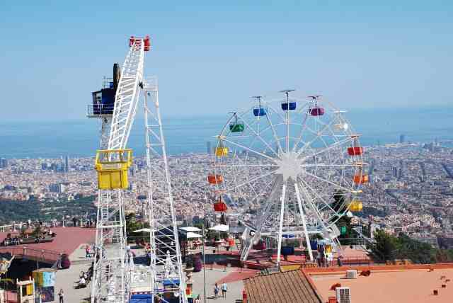 The Tibidabo amusement overlooking Barcelona - places to see in barcelona