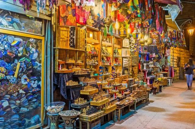 Souvenir stall in Ben Yehuda street - jerusalem things to do, jerusalem sites