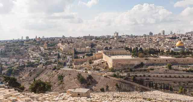 The view of Jerusalem city from Mount Olives - places to visit in jerusalem,