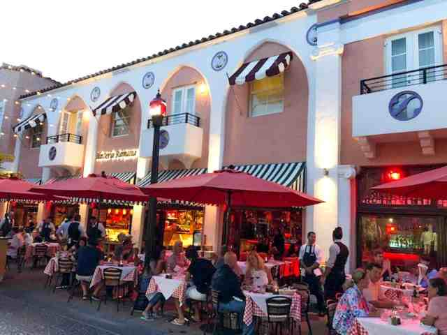 Española Way, Miami Beach.  Eating here is one of the best things to do in miami south beach. things to do in miami beach