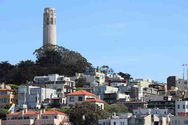 Coit Tower on Telegraph Hill is one the historical things to do in san francisco