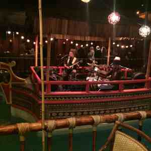 Live band playing on the water at Tonga Room. this place is one of the things to do san francisco