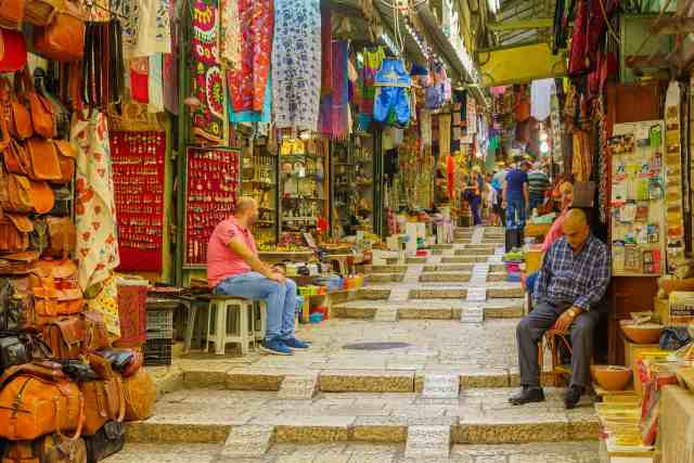 David st. in the Arab Market in the old city of Jerusalem