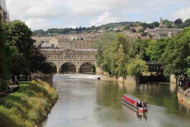 A cruise on the River Avon - great for groups and also can be one of   the romantic things to do in bath