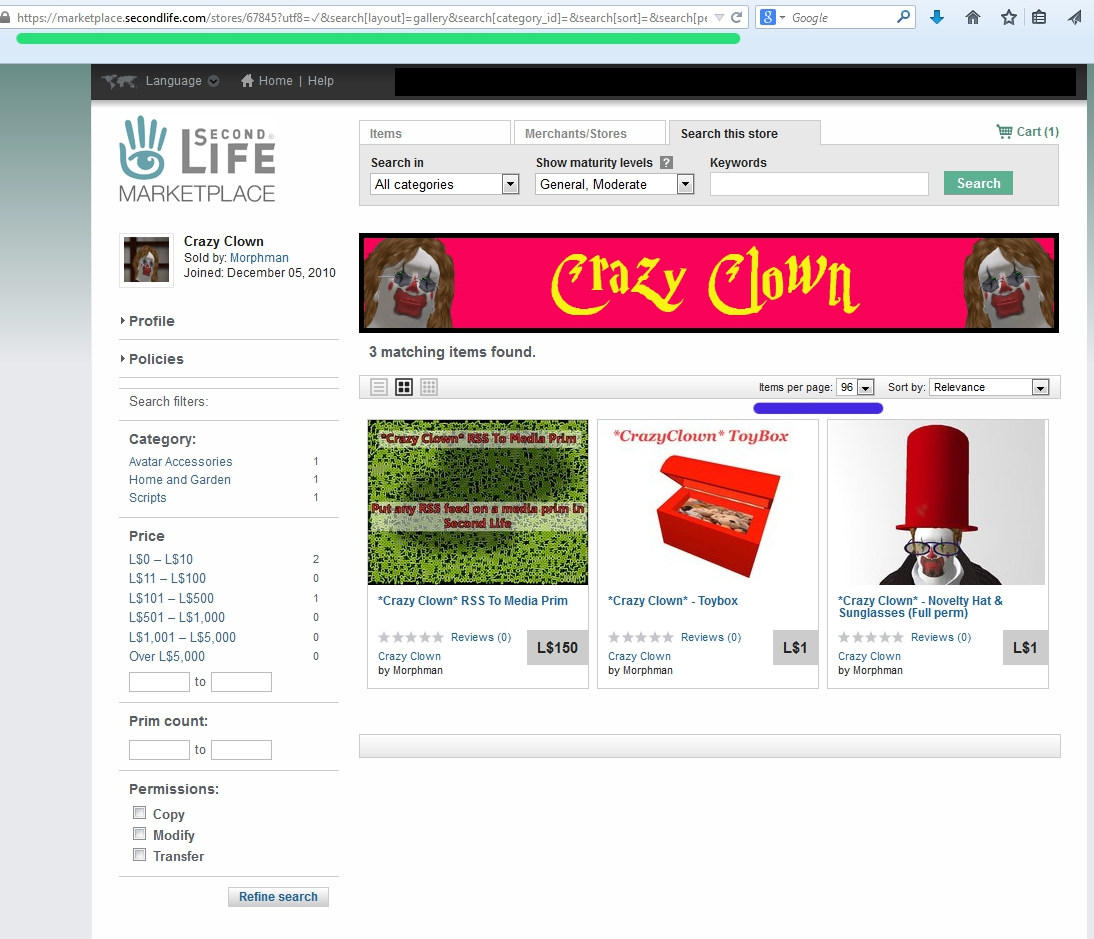 Second Life Marketplace Tutorial: Make a RSS feed for your store