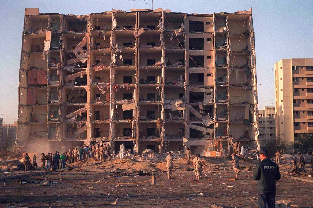 The aftermath of the Khobar Towers bombing. Photo: U.S. Department of Defense / Wikimedia