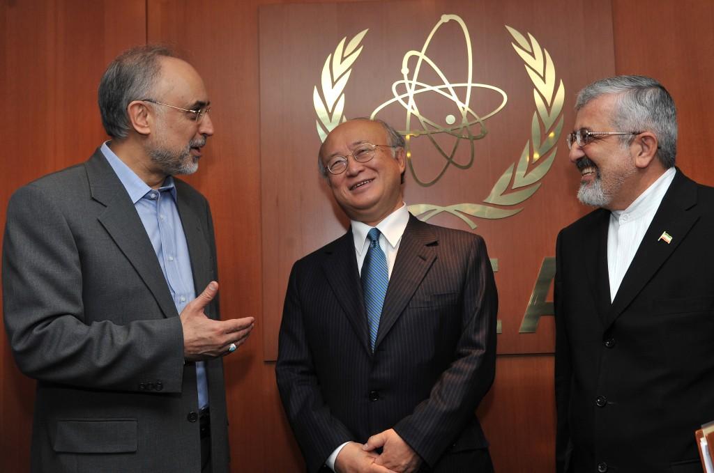 Ali Akbar Salehi, meets with IAEA Director-General Yukiya Amano at the IAEA's headquarters in Vienna. Photo: Dean Calma / IAEA / flickr