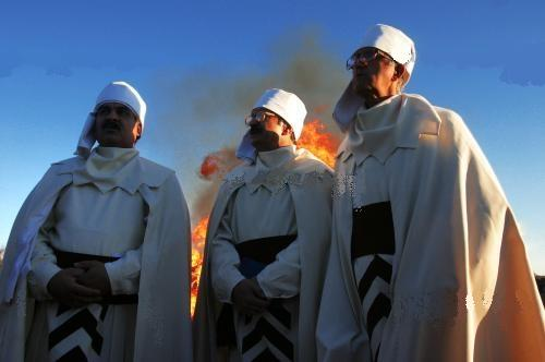 A group of priests from Kerman, Iran.