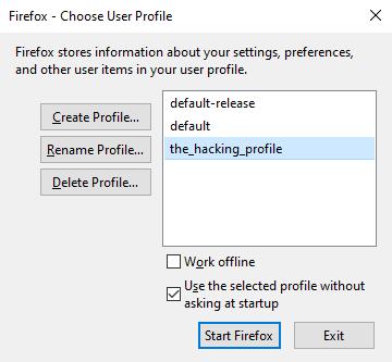 Firefox Profiles Selection