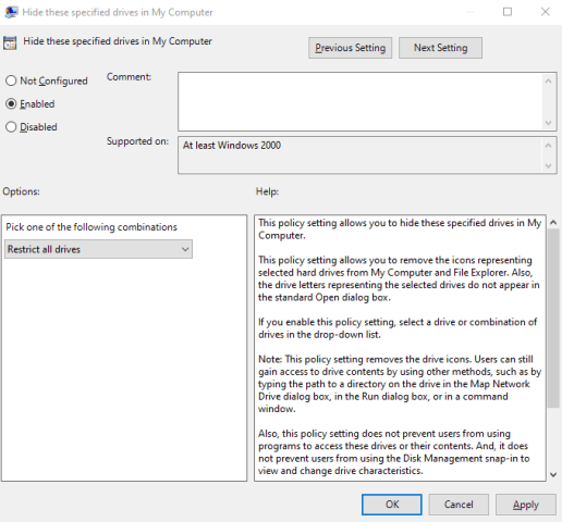"""How to Hide Drives in """"This PC"""" in Windows [Hide or Restrict all drives]"""
