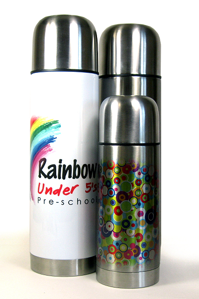 Silver And White Flasks For Dye Sublimation Printing