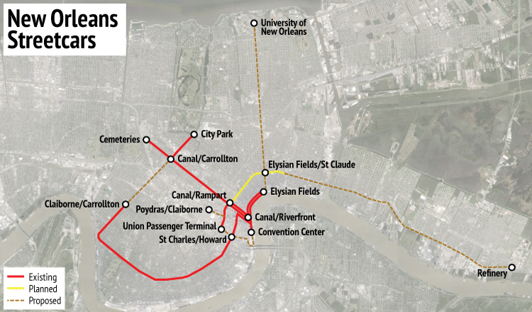 Streetcars In New Orleans Map.When Transit Service Is Substandard Can We Plan For Capital