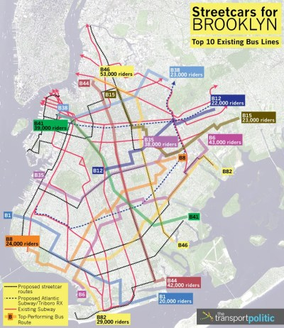 Top 10 Existing Brooklyn Bus Routes