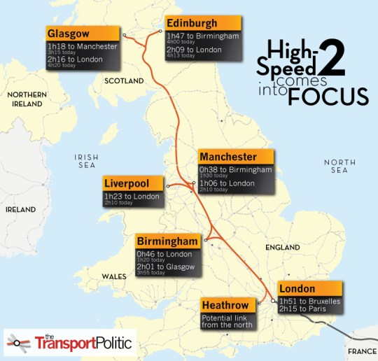 United Kingdom High-Speed 2 Map