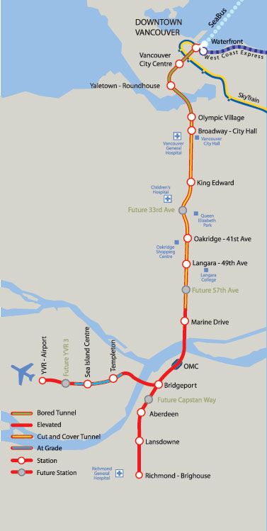 Map Of Canada Line Vancouver.Vancouver Opens Canada Line Months Ahead Of Schedule The