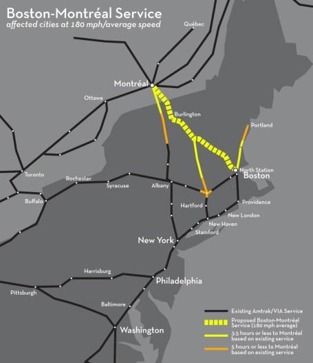 New England Rail Connections Boston-Montréal