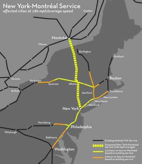 New England Rail Connections New York-Montréal