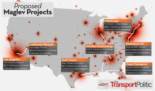 United States Maglev Projects and Funding