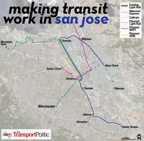 San Jose Transit Map