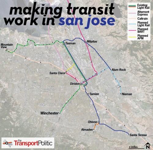 San Jose Transit Map