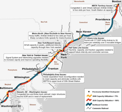 Northeast Corridor Capacity Constraints