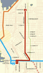 Seattle First Hill Streetcar Map